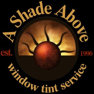 Logo, A Shade Above Window Tinting - Window Tinting